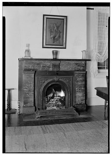 19.  Historic American Buildings Survey E. W. Russell, Photographer, February 16, 1937 MARBLE MANTEL, NO. WALL of FRONT ROOM, 1st FLOOR - Azalea Grove, 55 South McGregor Avenue, Spring Hill, Mobile County, AL