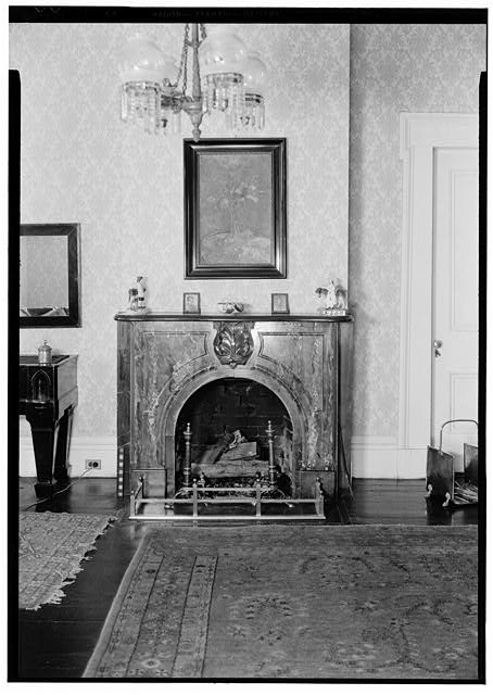 20.  Historic American Buildings Survey E. W. Russell, Photographer, February 16, 1937 MARBLE MANTEL, SO. WALL OF EAST HALF OF HALL, SECOND STORY - Azalea Grove, 55 South McGregor Avenue, Spring Hill, Mobile County, AL