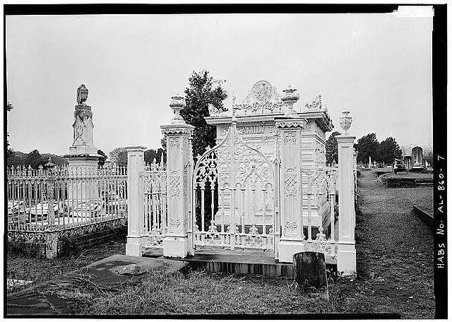 7.  FRONT OF TOMB WITH GATE CLOSED - Slatter Family Tomb, Magnolia Cemetery, Virginia Street, Mobile, Mobile County, AL