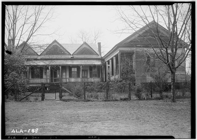 1.  Historic American Buildings Survey Alex Bush, Photographer, March 24, 1937 LOOKING NORTH AT HOME AND OFFICE - Fox-Harris-Jones House, State Road 21, Oak Hill, Wilcox County, AL