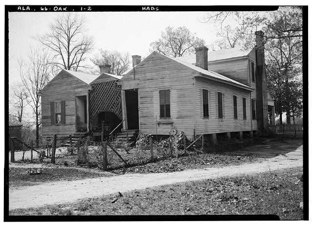 2.  Historic American Buildings Survey Alex Bush, Photographer, March 24, 1937 REAR (SOUTH) AND EAST ELEVATION - Ramsey-Jones-Bonner House, State Route 10, Oak Hill, Wilcox County, AL