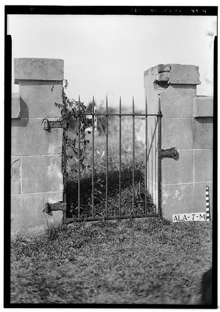 4.  Historic American Buildings Survey E. W. Russell, Photographer, April 7, 1936 GATE TO B. F. AND M. Y. SCATTERGOOD LOT IN MAGNOLIA CEMETERY - Magnolia Cemetery (Ironwork), Virginia Street, Mobile, Mobile County, AL