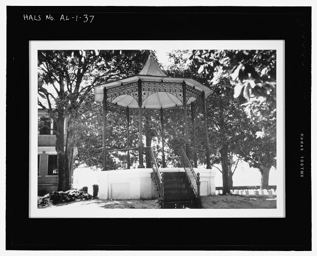 HISTORIC IMAGE:  VIEW OF CA. 1890S-ERA ROSTRUM, DEMOLISHED. PHOTOGRAPH 1946.  NCA HISTORY COLLECTION. - Mobile National Cemetery, 1202 Virginia Street, Mobile, Mobile County, AL