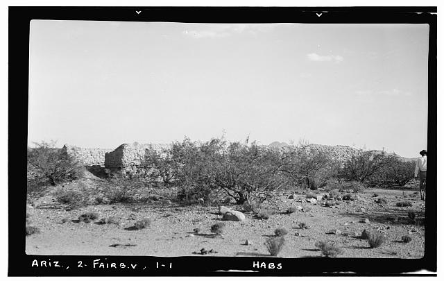 1.  Historic American Buildings Survey Frederick D. Nichols, Photographer November 1937 GENERAL VIEW, FROM SIDE - Santa Ana de Quiburi Mission (Ruins), Fairbank (historical), Cochise County, AZ
