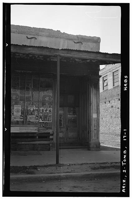 1.  Historic American Buildings Survey Frederick D. Nichols, Photographer November 1937 VIEW LOOKING SOUTH - Shop No. 3, Tombstone, Cochise County, AZ