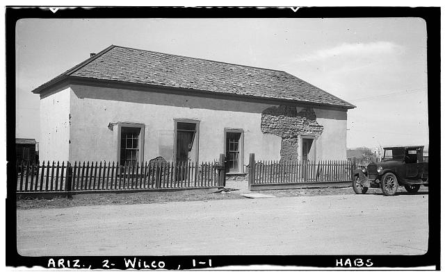 1.  Historic American Buildings Survey Delos H. Smith, photographer February 1940 - House & Fence, Willcox, Cochise County, AZ