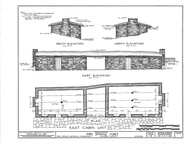 HABS ARIZ,8-MOC.V,1- (sheet 14 of 14) - Pipe Spring Fort, Moccasin, Mohave County, AZ
