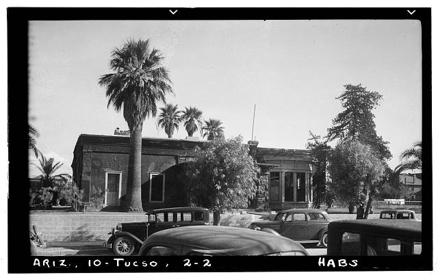 2.  Historic American Buildings Survey Frederick A. Eastman, Photographer January 1938 VIEW OF WEST FACADE FROM STREET (FRONT) - Ballantyne Robinson House, Military Plaza (141 South Fifth Avenue), Tucson, Pima County, AZ