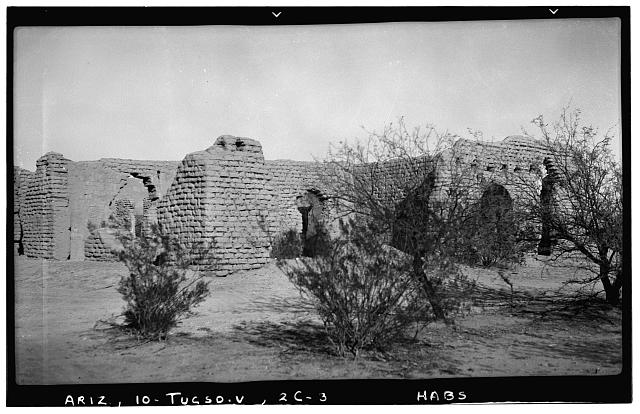 3.  Historic American Buildings Survey Frederick D. Nichols, Photographer December 1937 VIEW LOOKING NORTHEAST - Fort Lowell, Post Hospital (Ruins), Fort Lowell Road Vicinity, Tucson, Pima County, AZ