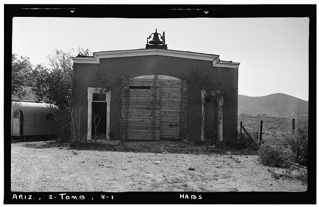 1.  Historic American Buildings Survey Frederick D. Nichols, Photographer November 1937 VIEW LOOKING SOUTH - Fire Station, Toughnut Street, Tombstone, Cochise County, AZ