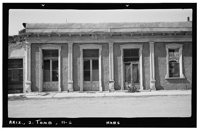 2.  Historic American Buildings Survey Frederick D. Nichols, Photographer November 1937 DETAIL OF WINDOWS VIEW LOOKING WEST - Third & Allen Streets (Bank), Tombstone, Cochise County, AZ