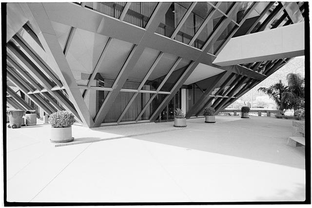 1.  Lower plaza level showing entrance,direction unknown - Tempe Municipal Building, 31 East Fifth Street, Tempe, Maricopa County, AZ