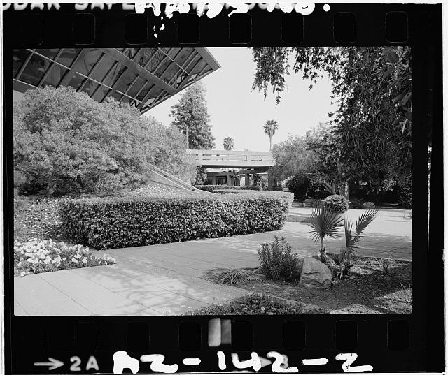 2.  Lower plaza level showing plantings,direction unknown - Tempe Municipal Building, 31 East Fifth Street, Tempe, Maricopa County, AZ