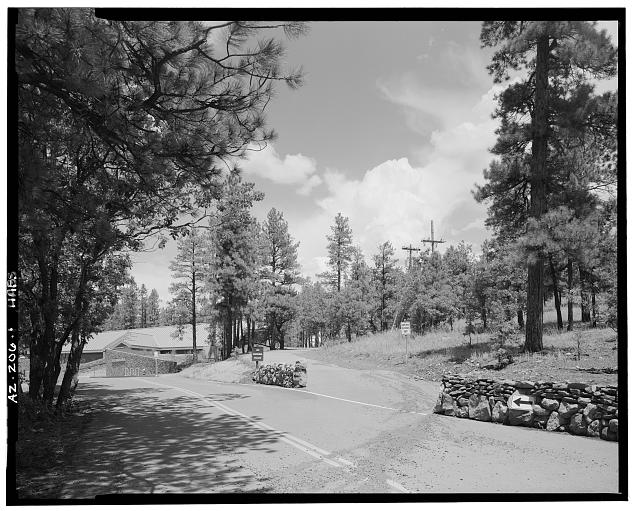 1.  SATURN GATES ADJACENT TO VISITOR CENTER, LOOKING NORTH - Lowell Observatory, 1400 West Mars Hill Road, Flagstaff, Coconino County, AZ