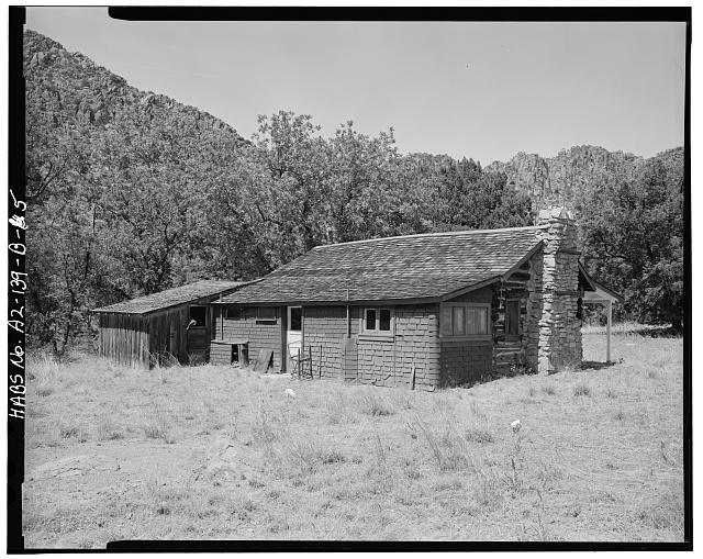5.  WEST BACK AND SOUTH SIDE - Faraway Ranch, Stafford-Riggs Cabin, Willcox, Cochise County, AZ