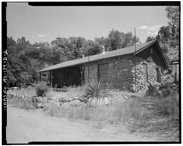 2.  BUNKHOUSE, NORTH FRONT AND WEST SIDE - Faraway Ranch, Guest Quarters-Bunkhouse, Willcox, Cochise County, AZ