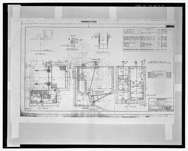 FLOAT OPERATED RADIAL GATE INSTALLATION. WASTEWAY NO. 1. WELLTON-MOHAWK CANAL - STA. 99+23.50. United States Department of the Interior, Bureau of Reclamation; Gila Project, Arizona, Wellton-Mohawk Division. Drawing No. 50-D-2497, dated March 8, 1949, Denver Colorado. Sheet 1 of 7 - Wellton-Mohawk Irrigation System, Wasteway No. 1, Wellton-Mohawk Canal, North side of Wellton-Mohawk Canal, bounded by Gila River to North & the Union Pacific Railroad & Gila Mountains to south, Wellton, Yuma County, AZ