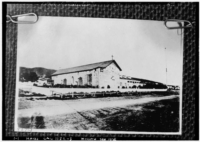 3.  Historic American Buildings Survey Society of California Pioneers Original: Early 1860'2 Re-photo: January 1940 VIEW FROM NORTHWEST - Mission San Jose de Guadalupe, Mission & Washington Boulevards, Fremont, Alameda County, CA