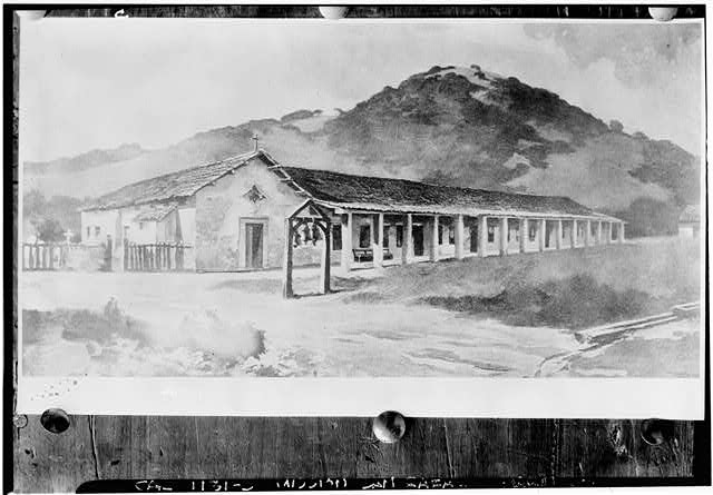 1.  Historic American Buildings Survey From Society of California Pioneers Painting by Renaud Original: Before 1835 Re-photo: January 1940 VIEW FROM SOUTHWEST - Mission San Rafael Archangel, San Rafael, Marin County, CA