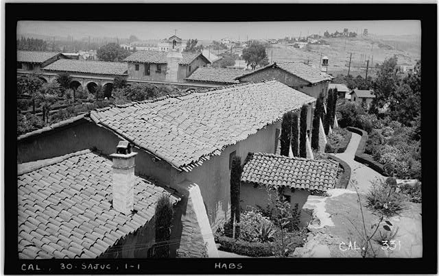 1.  Historic American Buildings Survey Photographed by Henry F. Withey June 1936 GENERAL VIEW TO THE NORTH FROM ROOF OF THE STONE CHURCH - Mission San Juan Capistrano, Olive Street, between U.S. Highway 101 & Main Street, San Juan Capistrano, Orange County, CA