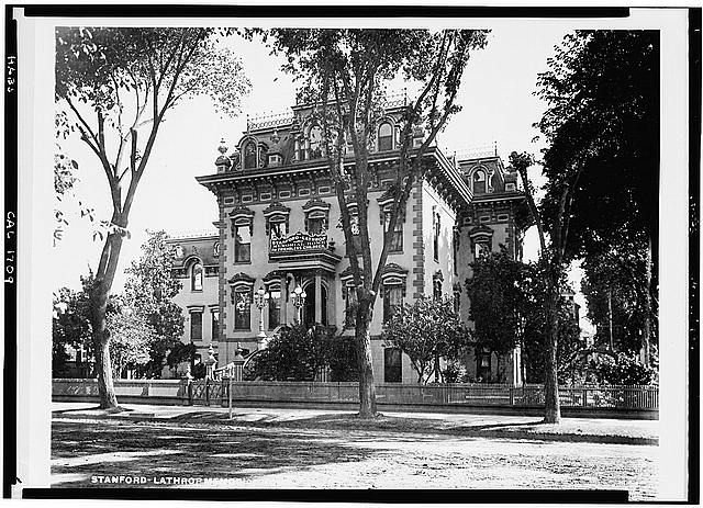 7.  Photocopy of 1902 photograph in Society of California Pioneers Collection. NORTH FRONT - Leland Stanford House, 800 N Street, Sacramento, Sacramento County, CA