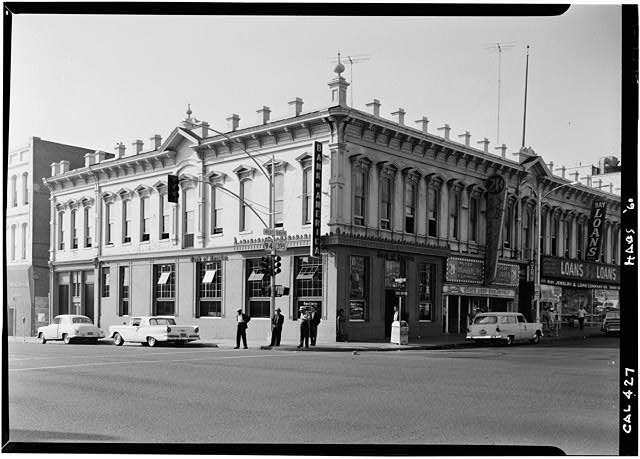 1.   October 1960 SOUTH AND EAST ELEVATIONS - Backesto Block, Fifth Avenue & Market Street, San Diego, San Diego County, CA