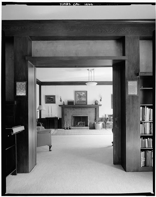 9.  Historic American Buildings Survey Marvin Rand, Photographer August 1971 FIRST FLOOR MUSIC ROOM - Melville Klauber House, 3060 Sixth Avenue, San Diego, San Diego County, CA