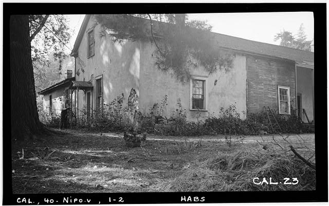 2.  Historic American Buildings Survey. Photographed by Henry F. Withey, September 1936 NORTH- EAST AND SOUTH-EAST FACADE - William G. Dana House, Guadalupe Road, Nipomo, San Luis Obispo County, CA