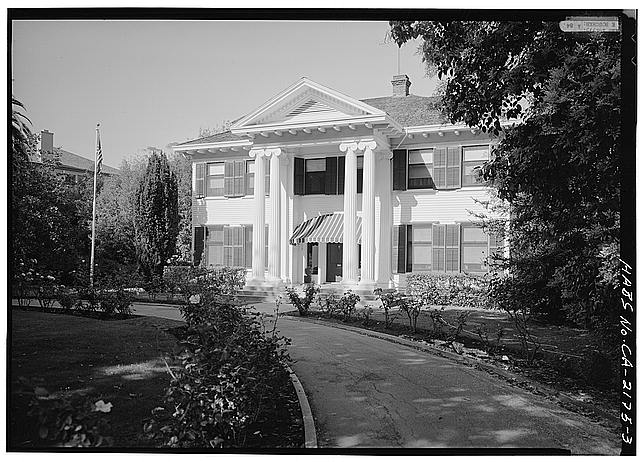 3.  GENERAL VIEW FROM THE SOUTH - Dunn-Bacon House, 565 Mayfield Avenue, Stanford, Santa Clara County, CA