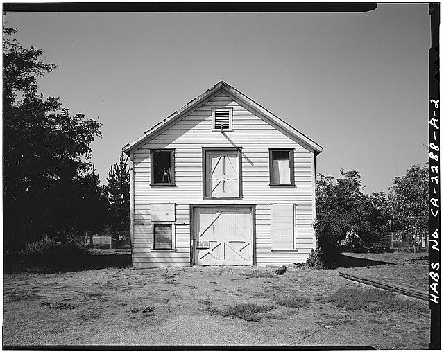 2.  VIEW OF CHAMPION BARN EAST FRONT, FACING WEST - Champion House, Barn, 1357 Mowry Avenue, Fremont, Alameda County, CA