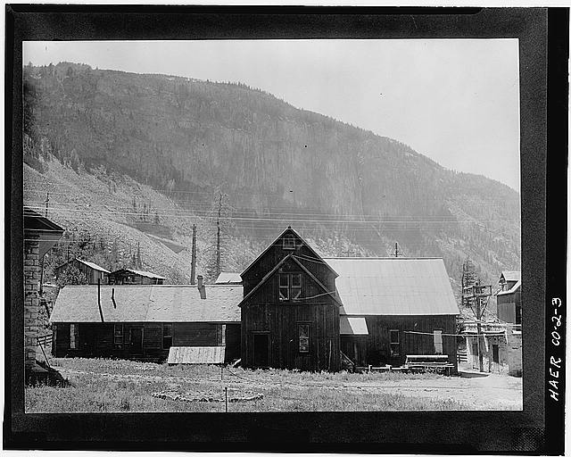 3.  EXTERIOR VIEW (C. 1910) OF THE 1895 POWER HOUSE. CORNER OF 1905 POWER HOUSE AT FAR LEFT. - Ames Hydroelectric Plant, Ames, San Miguel County, CO