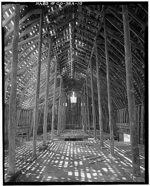 10.  INTERIOR, SECOND FLOOR, WEST SIDE - Ritter Ranch, Barn, Old Dolores Highway, Dolores, Montezuma County, CO