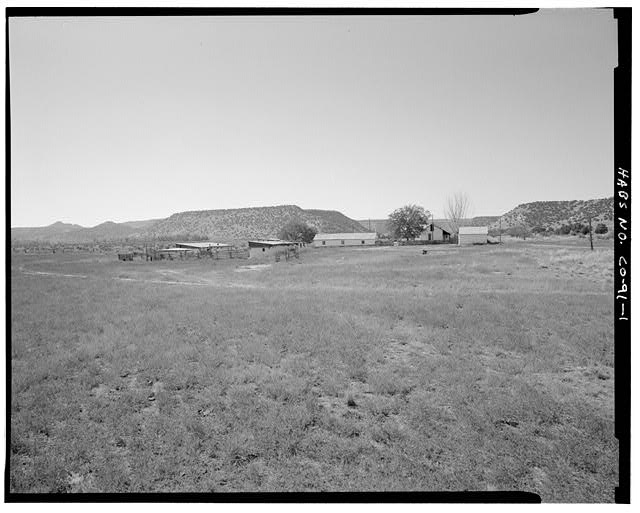 General view, looking southwest. - Eugene Rourke Ranch, 19 miles east of U.S. Highway 350, Model, Las Animas County, CO