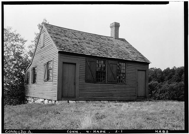 1.  Historic American Buildings Survey (Fed.) Stanley P. Mixon, Photographer July 17, 1940 (A) EXTERIOR GENERAL VIEW FROM SOUTH WEST - Nathan Hale Schoolhouse, Nathan Hale Park (moved from Village Green), East Haddam, Middlesex County, CT