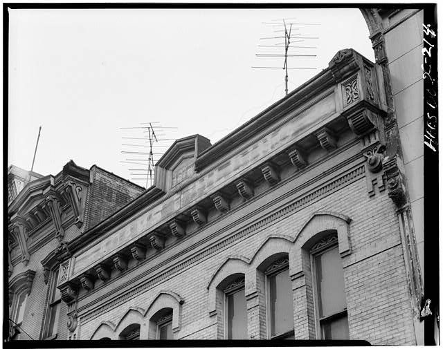2.  Historic American Buildings Survey Ronald Comedy, Photographer July 1969 DETAIL OF CORNICE - Adams Building, 816 F Street, Northwest, Washington, District of Columbia, DC