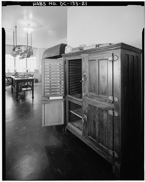 21.  ICE BOX ON WEST WALL OF KITCHEN, FIRST FLOOR - Woodrow Wilson House, 2340 South S Street, Northwest, Washington, District of Columbia, DC