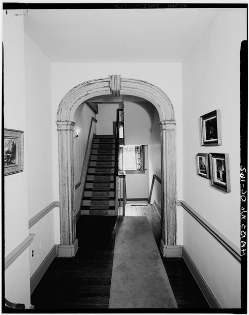 HALL ARCH, PRESENT FIRST FLOOR (ORIGINALLY SECOND FLOOR) - McCleery House, 1068 Thirtieth Street Northwest, Washington, District of Columbia, DC