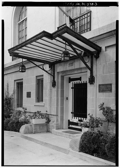 3.  DETAIL, SOUTH FRONT, DOORWAY - Charles Evans Hughes House, 2223 R Street Northwest, Washington, District of Columbia, DC