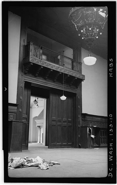 10.  Historic American Buildings Survey Frederick D. Nichols, Photographer December 1938 DETAIL, BALCONY IN MAIN HALL - John R. McLean House, 1500 I Street Northwest, Washington, District of Columbia, DC