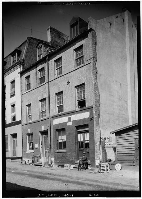 1.  Historic American Buildings Survey John O. Brostrup, photographer April 1937 VIEW OF FRONT - 1061-1063 Potomac Street Northwest, Double House, Washington, District of Columbia, DC
