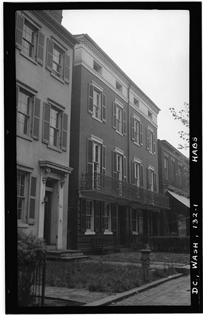 1.  Historic American Buildings Survey Frederick D. Nichols, photographer June 1937 VIEW OF FRONT - 723-725 Twentieth Street, Northwest (House), Washington, District of Columbia, DC