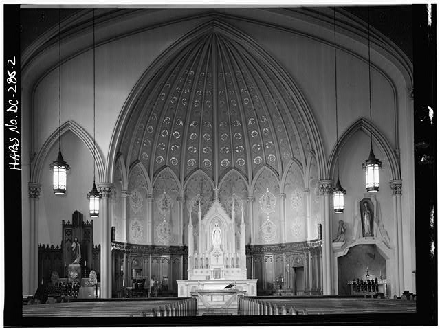 2.  INTERIOR - Immaculate Conception Church, Eighth & N Streets, Northwest, Washington, District of Columbia, DC