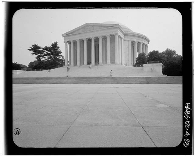 23.  View from the northwest. August 1991. - Jefferson Memorial, East Potomac Park, Washington, District of Columbia, DC