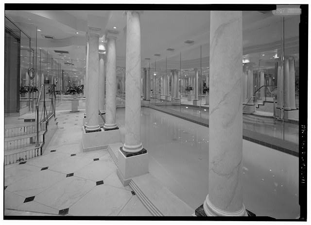 Interior view, closer view of swimming pool - Clements-de Sibour House, 1539 Twenty-ninth Street, Northwest, Washington, District of Columbia, DC