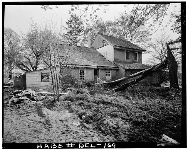 4.  Historic American Buildings Survey Earl Brooks, Photographer 1958 REAR (NORTH) ELEVATION - Robinson-Murray House, Limestone Road, Milltown, New Castle County, DE