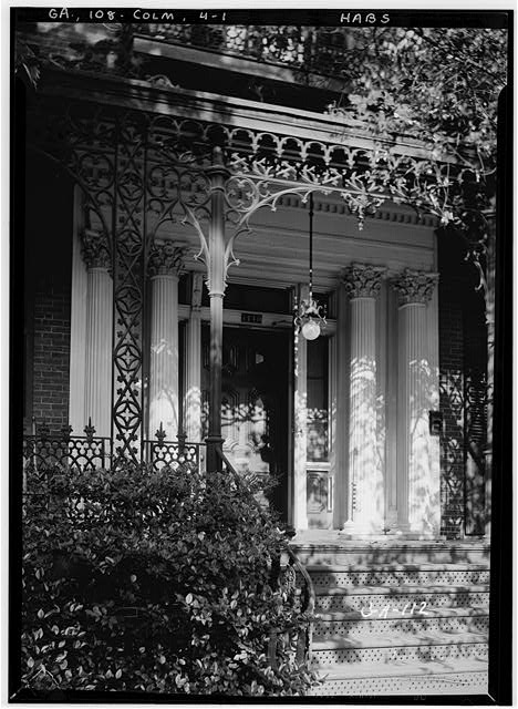 1.  Historic American Buildings Survey L.D. Andrew - Photographer May 23, 1936. DETAILS OF ENTRANCE & IRONWORK - Rankin House, 1440 Second Avenue, Columbus, Muscogee County, GA