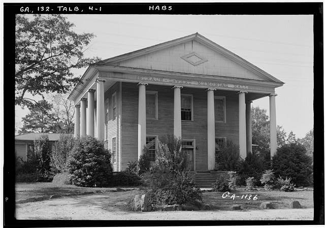 1.  Historic American Buildings Survey L. D. Andrew, Photographer Oct. 24, 1936 GENERAL VIEW - Straus Le Vert Memorial Hall, Talbotton, Talbot County, GA