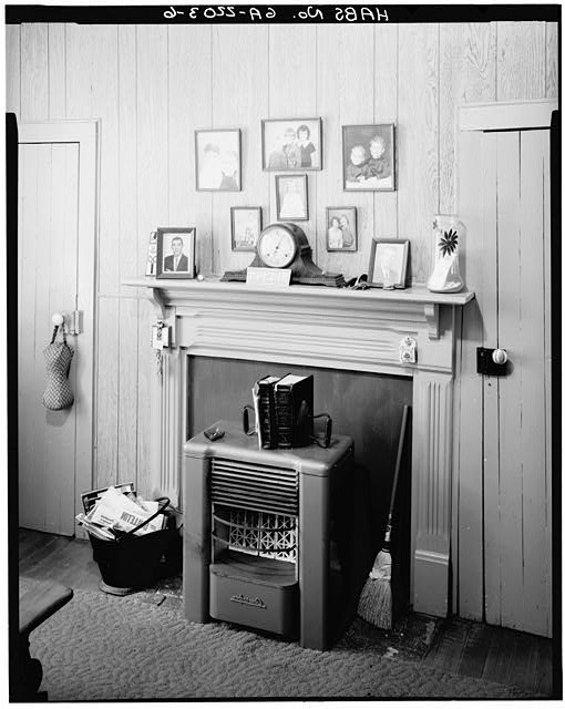 6.  INTERIOR, BEDROOM, WEST WALL WITH FIREPLACE - Rosalynn Carter Childhood Home, 219 South Bond Street, Plains, Sumter County, GA
