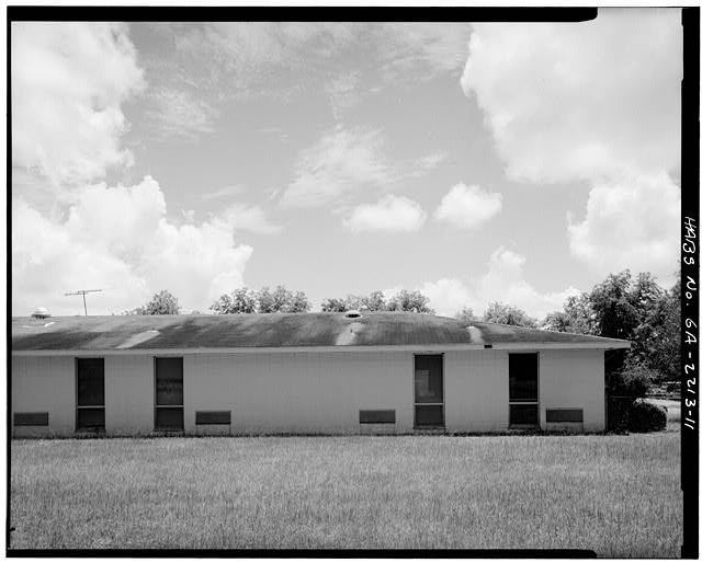 WEST FOUR BAYS OF NORTH REAR - Wise Sanatorium No. 2, Hospital Street, Plains, Sumter County, GA