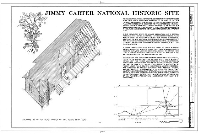 HABS GA,131-PLAIN,23- (sheet 1 of 1) - Jimmy Carter National Historic Site & Preservation District, Plains, Sumter County, GA